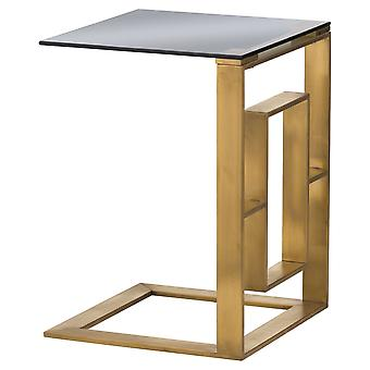 Hill Interiors The Edwin Stainless Sofa Table In Brushed Brass