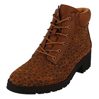 Ladies Spot On Ankle Boots F51021