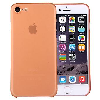 For iPhone SE(2020), 8 & 7  Case,Stylish Ultra-thin Translucent Protective Cover,Orange