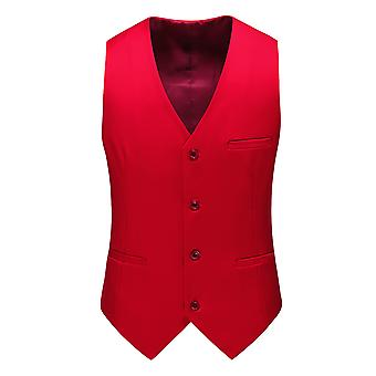 Allthemen Men's Suit Vest V-Neck Business Casual Vest