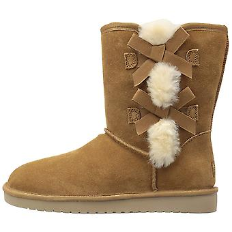 Koolaburra by UGG Womens Victoria Short Leather Round Toe Mid-Calf Cold Weath...