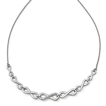 925 Sterling Silver Polished Infinity With 2inch Ext. Necklace 16 Inch Jewelry Gifts for Women