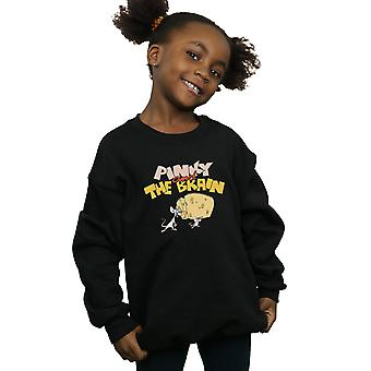 Animaniacs Girls Pinky And The Brain Cheese Head Sweatshirt