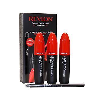 Revlon Ultimate tudo em Blackest 3 x 8,5 ml de um rímel preto + Eye Liner