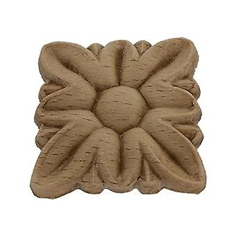Decorative wooden rosette pattera square 34mm x 34mm