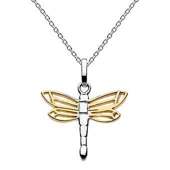Dew Sterling Silver Dragonfly Gold Plate Pendant 9492GD