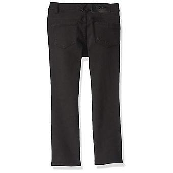 DKNY Girls' Big Jegging, A Knee Slit Black, 14