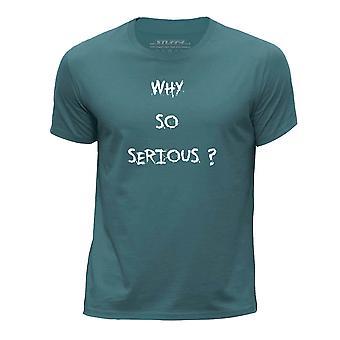 STUFF4 Boy's wokół szyi T-shirty Shirt/SuperHero cytat/poważne/Ocean Green