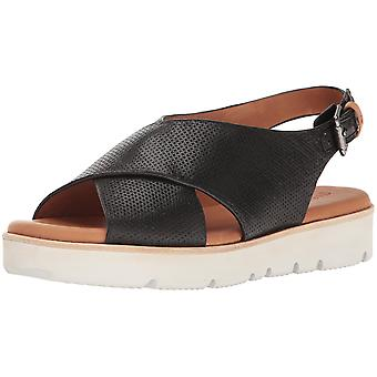 Gentle Souls Womens Kiki Leather Peep Toe Casual Slingback Sandals