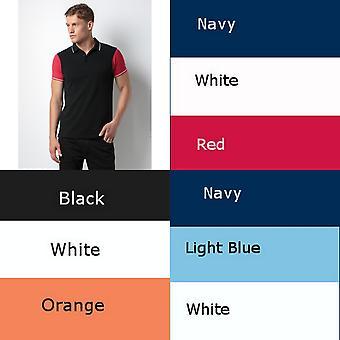 Kustom Kit Mens dois Tone contraste derrubado camisa Polo