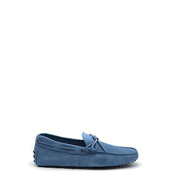 Tod's Ezbc025092 Men's Light Blue Suede Loafers