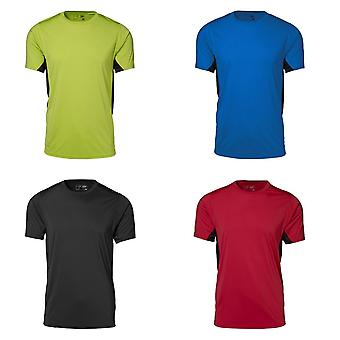 ID Mens Game Active Mesh Fitted Short Sleeve Sport T-Shirt