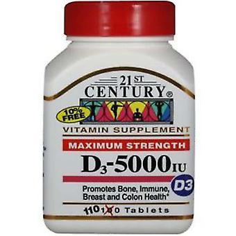 21st century vitamin d-5000, super strength d3, tablets, 110 ea