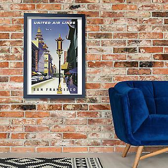Ar Unidos linhas são Francisco 2 Poster impressão giclée
