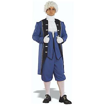Traje de colonial homens americanos George Washington Presidente francês STD