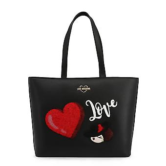 Love Moschino Original Women Fall/Winter Shopping Bag - Black Color 37111