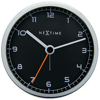 NeXtime - Wecker - 9 x 9 x 7,5 cm - Metall - Schwarz - 'Firmenalarm'