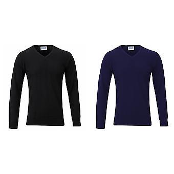 Maddins Kids Unisex V Neck Fully Fashioned Jumper / Sweatshirt