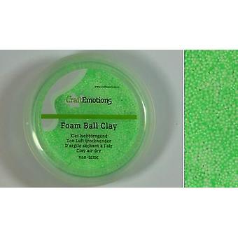 CraftEmotions Foamball Clay - Hellgrün 75ml - 23g Luft trocken