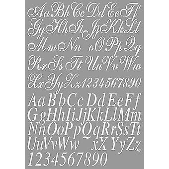 Néerlandais Doobadoo Néerlandais Stencil Art Alphabet 2 A4 470.455.002
