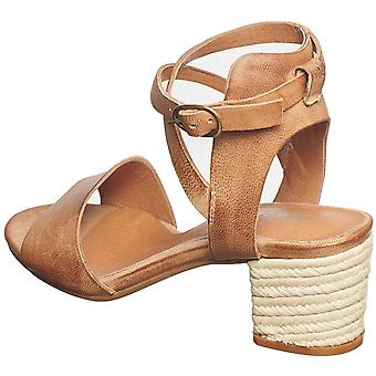 Antelope Women's 540 Leather Ankle Wrap Heeled Espadrille