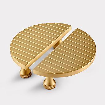 Small Brass Cabinet Handles - Gold - Stripe