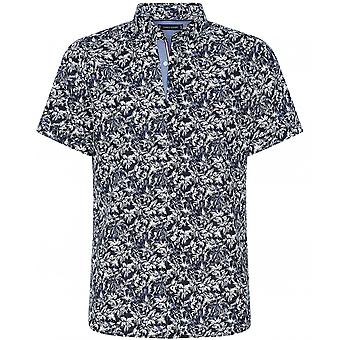 Tommy Hilfiger Slim Fit Bomuld Linned Palm Tree Shirt