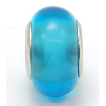 TOC BEADZ Translucent Blue 9mm Glass Slide-On Off Bead