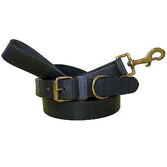 Bradley crompton véritable cuir correspondant collier de chien paire et lead set cdkupb109