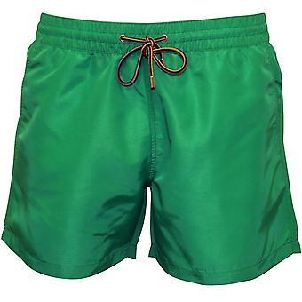 Paul Smith Premium Solids Classic-cut zwemmen Shorts, groen