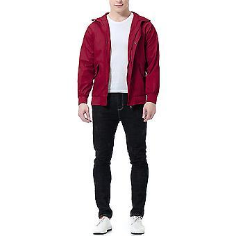 Cloudstyle Men's Jacket Waterproof Solid Casual Hooded Coat