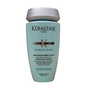 Kerastase Bain Riche Dermo Calm Shampoo Sensitive Scalp Dry Hair 8.45 OZ
