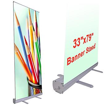 """Instahibit 10pcs 33""""x79"""" Retractable Rollup Banner Stand Trade Show Signage Display Promotion Store Portable"""
