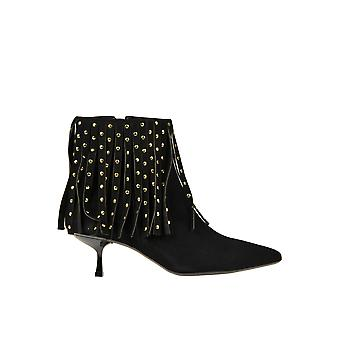 Ncub Ezgl391015 Women's Black Suede Ankle Boots