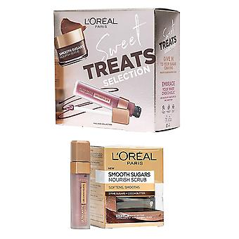 L'Oreal Paris Sweet Treats Set-Lipstick Candy Man Smooth Sugars Nourish Scrub 50ml