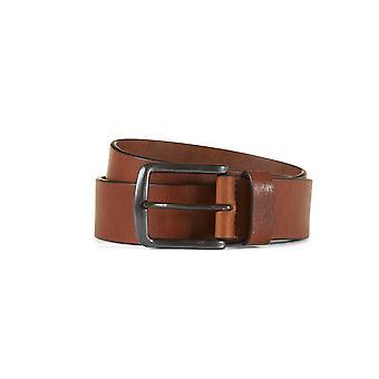 Leather belt henric brown