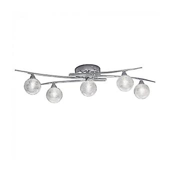Shardice Chrome Ceiling Light 5 Bulbs