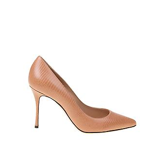 Sergio Rossi A43843mags032222 Women's Beige Leather Pumps
