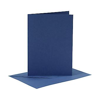 6 Blue A6 Cards and Envelopes for Card Making Crafts | Card Making Blanks