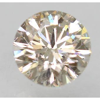 Certified 0.63 Carat K VVS2 Round Brilliant Enhanced Natural Loose Diamond 5.45m