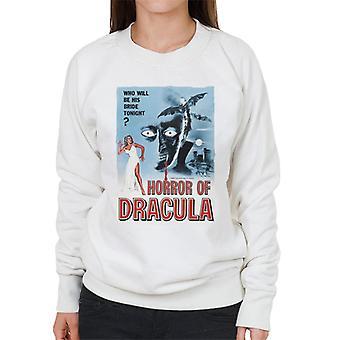 Hammer Horror films Dracula klassieke film poster vrouwen ' s Sweatshirt