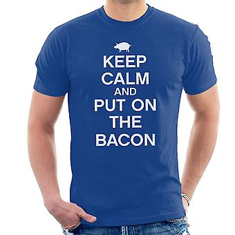 Keep Calm And Put On The Bacon White Men's T-Shirt