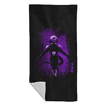 Dragonball Z Freiza Purple Splatter Beach Towel