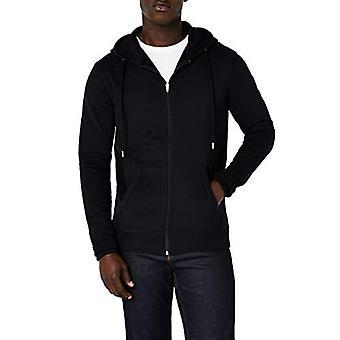 MERAKI Men's Standard Zip Hoodie, Black, EU XXXL (US XL - XXL)