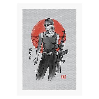 Terminator Sarah Connor A4 Tryck