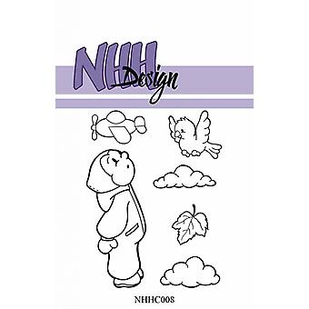 NHH Design Little Boy Looking in the Sky Clear Stamps