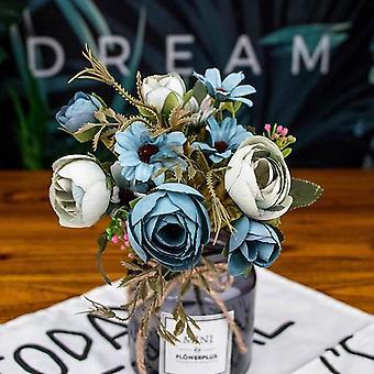 Autumn Fake Tea Rose, Silk Flower For Wedding Home Decoration