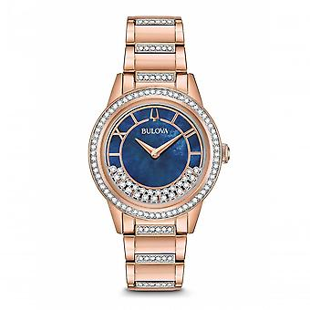 Bulova Watches 98l247 Crystal Blue & Rose Gold Ladies Watch