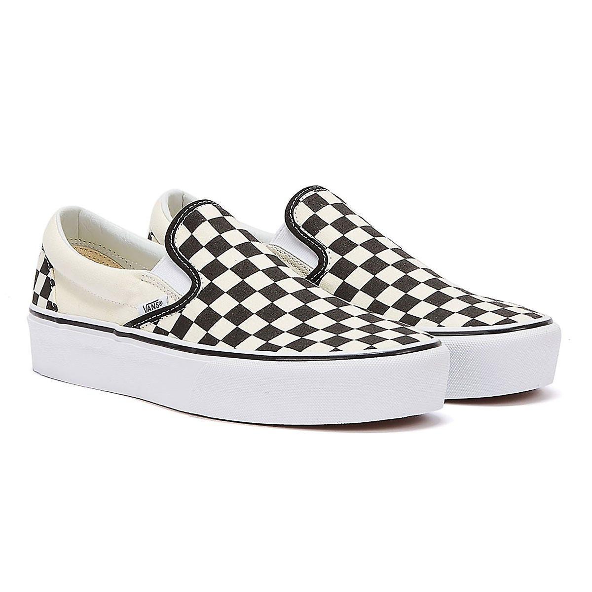 Vans Womens Black / White Checkerboard