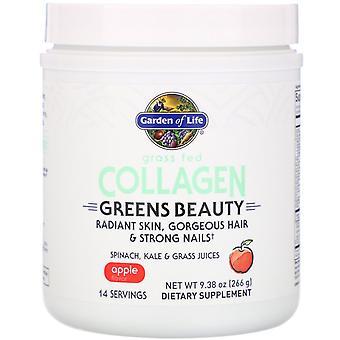 Garden of Life, Grass Fed Collagen, Greens Beauty, Apple, 9.38 oz (266 g)